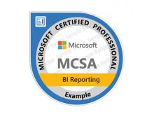 Certification MCSA BI Reporting