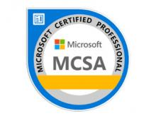 Certification Microsoft MCSA