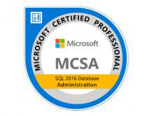 Certification MCSA SQL 2016 Database Administration