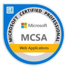 Certificaion MCSA Web Application