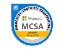 Certification MCSA Windows Server 2016